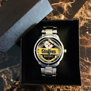 🆕 Pittsburgh Steelers Watch With Box